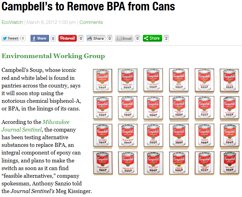 Campbell's to Remove BPA from Cans