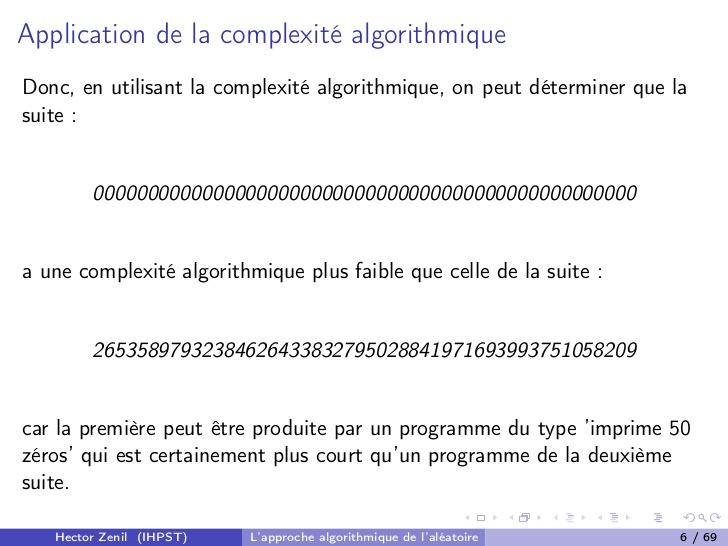 3 Complexité algorithmique (tradition homonyme)